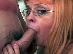 Once she gets her hands over this young dick, nothing can stop her