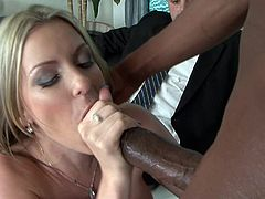 Nothing beats a massive black snake to slam her creamy cunt