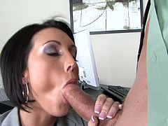 Busty secretary Dylan Ryder in a rough fuck at the office