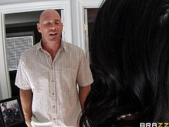 Breanne's husband is a crippled cop and she needs a real man in perfect shape to fuck her hard. To make things even worse, she's jealous by the fact that Marcus, her husband, flirts with a chick. She hasn't been fucked by her husband by three months so Johnny, his ex partner, will have to take care of her now.