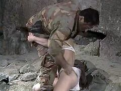 Horny and hot babe with dark hair and awesome shape sucks the cock and jumps on it in the cave. Have a look at this cutie in steamy The Classic Porn sex clip.