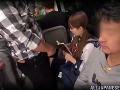 Check out this cute schoolgirl and what will happen to her. This cutie was reading a book in a public transport on the way home. Little did she knew that this time things will become very dirty for her. As she was reading, a pervert jerked and jizzed on her skirt and then she was assaulted and sexually used!