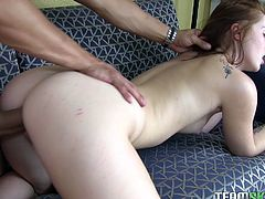 Long haired big assed tasty bitch received turbulent drilling of her saggy corn hole from behind and rim job in addition. Watch this hottie in Team Skeet porn video!