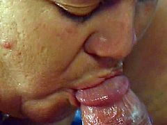 Fat wife along her hubby are playing quite nasty in dirty hardcore porn show