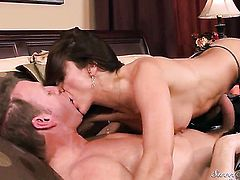 Mark Wood cant wait any more to insert his sausage in devilishly sexy Michelle Lays mouth