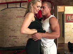 Have fun with this hardcore scene where the horny blonde Tanya Tate sucks on this guy's big cock before being fucked.