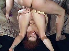 She didn't expect her man to be so fucking tough on her! So, she grabs his cock for an amazing blowjob and then his dick moves in her holes.