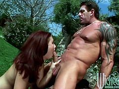 Redhead with a Pierced Pussy Gets Hardcore Anal