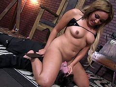 Evil Angel's babe is a true master in dominating and enslaving this guy