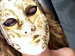 This Asian bombshell has her lover wearing a mask and laying back for some intense action. Loni get's her lover's tits nice and wet by giving them a good lick. She even bites her nipples, before pinching those pussy lips together and inserting a big pink dildo inside of Kimmy's vagina.