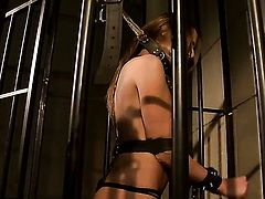 Brunette Mandy Bright satisfies her sexual desires with Andy Brown