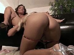 Victoria Kruz is one burning hot blonde sex machine and her friend Salome knows that very well. She spreads her legs wide and they switch turns to lick their pink pussies.