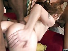 Violet Monroe takes boner in the asshole as if her life depends on it