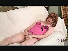 Come and enjoy this kinky free porn video where you can see how the wild brunette Tgirl Luci May plays with her cock while assuming very interesting poses.