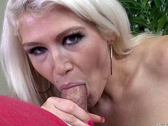 Have a look at this POV where the slutty blonde Nikki Phoenix ends up with a messy facial after sucking and titty fucking this guy's big cock.