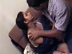 Horny and sexy dark haired Indian bitch with big ass and nice curve gets induced and takes her clothes off. Have a look in steamy The Indian Porn sex clip.