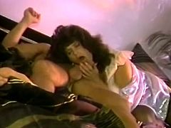 Horny and kinky bitch with dark hair and gets her pussy drilled by man. And two horny sluts with nice bodies spread their legs for vibrator on the bed. Watch in steamy The Classic porn xxx clip.