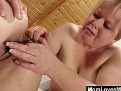 Two fuckable wife lesbian babes, Klaudie and Majda undress each other, than tease and please the other doll plus caressing, soft kisses and amazing piss hole humping with several sex toys