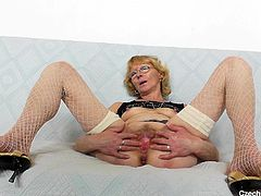 The old sluts from the Eastern bloc countries are always the dirtiest and Anna proves that's absolutely true. She spreads her legs and gapes her pussy hole wide so you can see deep inside there. You get to see every part of her vagina.