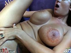 Long haired lusty hottie with marvelous boobies got her shaved kitty muffbusted sideways on sofa. A bit afterwards that cutie set to suck that sloppy cock. Have a look at this dirty wench in My XXX Pass sex video!