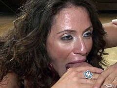Is a sexy mom with a great ass and big natural tits. Watch this hardcore scene where she's fucked until her mouth's filled by warm cum.
