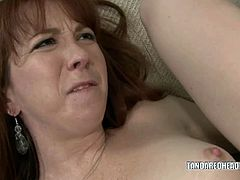 Slutty redhead Trinity Post gets her sweet ass pounded with a massive black dick.See how this redhead babe hardly sucks that huge black cock, then gets her tight anal hole busted by it.