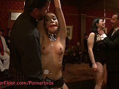 A bunch of sluts are punished in this wild BDSM video. They get their pussy brutally fucked and toyed. They're tied up and forced to do as told not to mention, slapped and peed' on!