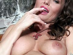 Silvia Saint gives a closeup of her vagina while masturbating with sex toy