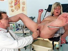 Full gyno exam for nasty mature