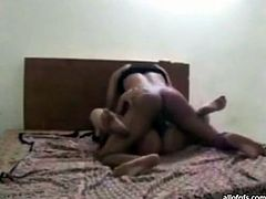 Hory and slutty whore with nice shape and good boobs gets her dripping hole fucked mish on the bed. Have a look in steamy The Indian Porn xxx clip.
