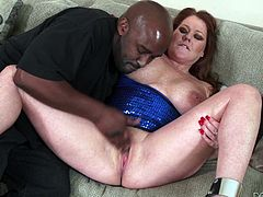 Naughty Kate is a granny, that needs a serious cock in her life. She had a lot of dicks at her time, but never went black. Well, better late than never! Kate will soon found out, how good a black dick feels like, after this dude will finish fingering her pussy. After he was done, he gave the slut a taste of it and more!