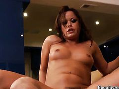 John Strong cant resist gorgeous Kaci Starrs acttraction and fucks her like crazy