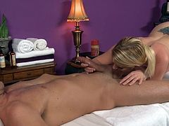 Voluptuous blonde is a true master in sucking and riding on tasty cocks