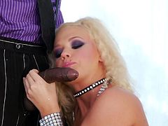 Golden cougar is soon to be demolished in one crazy anal interracial