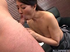 Witness this clip where a brunette female, with small boobs wearing a miniskirt, gets nailed hard over a couch at an office. She's a dirty adult!