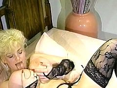 Light haired whorish harlot with massive ballrooms got incredibly horny and set to tough her fancy Tatas passionately. Have a look at this sexy chick in The Classic Porn sex clip!