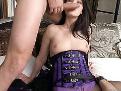 Mike Angelo plays with warm Baileys deadeye after he bangs her hole with his hard tool