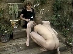 Horny and kinky slut with blond abd curly hair and with nice ass ridesa cock in cowgirl pose. Have a look at this gal in The Classic Porn xxx clip.