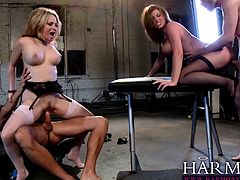 Foursome pleasure with Sara Stone and Aiden Starr