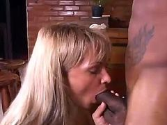 This sizzling nad petite one is going to have so much fun on that big black cock! She takes it in her mouth and then it penetrates her tight ass!