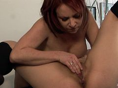Office sluts in raw pussy masturbation lesbian show, screaming and trembling