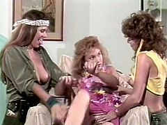 Sexy and filthy bitch with nice boobs gets drilled in cowgirl pose meanwhile slutty bitches with nice shapes have fun with their cunts. Have a look in steamy The Classic Porn sex clip.