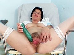 Her hairy twat hadn't has so much stimulation for a long time