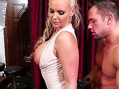 Enjoy seeing the hot and high quality porn action with Johnny Castle and Phoenix Marie having nice screw. Blonde milf with great boobs and butt gonna bounce on dick so well.