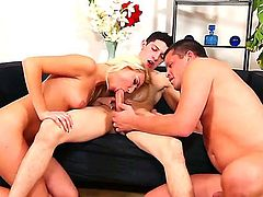 Threesome scene with a sexy babe Victoria Puppy and bisexuals named Danny Montero and Tomm