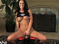 Cum along with Jayden Jaymes as she rides the infamous Aziani Rocker for the very first time! She slips off her little denim skirt and lowers her moist pussy down onto the faux cock. She lets the camera zoom in close so that you can watch in detail as the toy moves in and out of her tight body. She bares her breasts, rubs her clit and moans as the pleasure takes over.