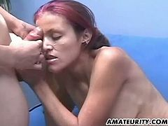 A hot young amateur couple homemade hardcore action with pussy licking, blowjob, fuck and facial cumshot !