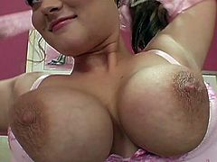 Obedient girl has big tits and likes huge cocks