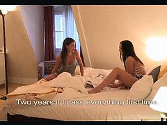 Lesbian whores Caprice and Niki. They are so close they could even be sisters! With their final exams almost over Caprice had some amazing news to share with her friend and that is her wet pussy waiting.
