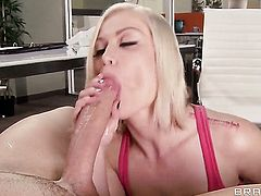 Ash Hollywood  Brandi Love is in heat in steamy oral action with Clover